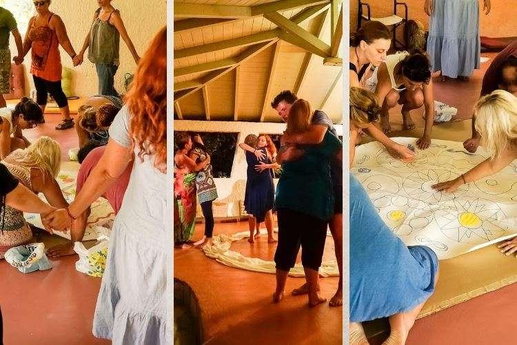 Συλλογή εικόνων απο ομαδική ψυχοθεραπεία μέσω τέχνης σε εναλλακτικές διακοπές