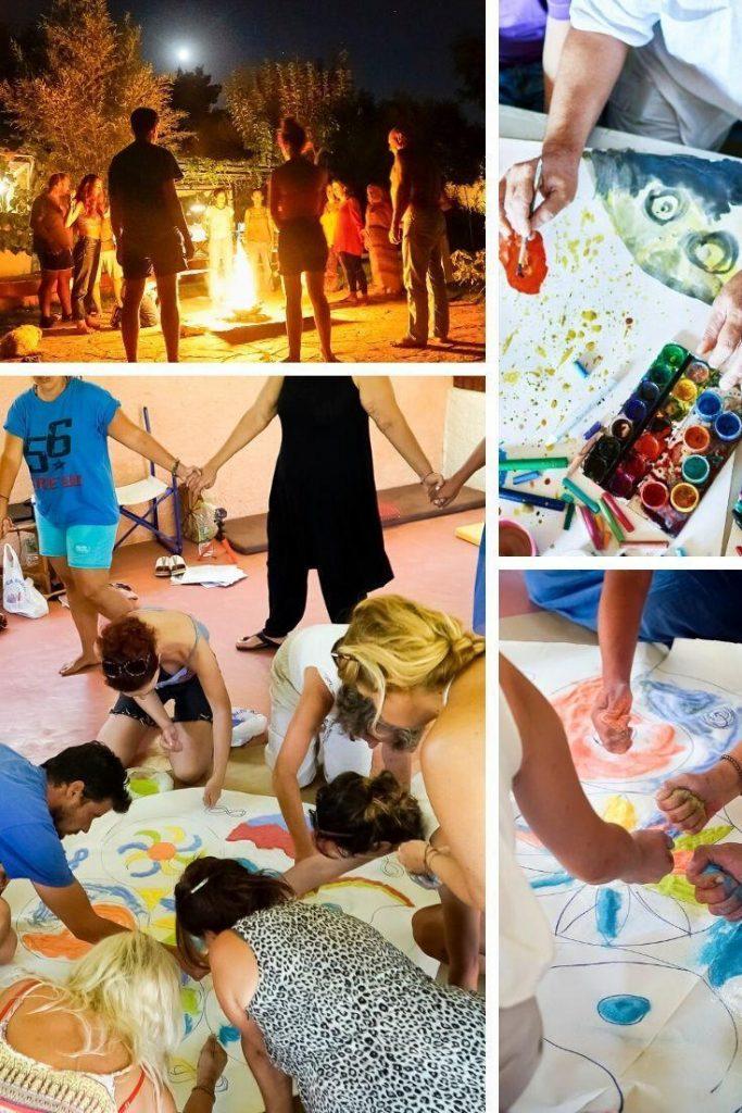 Κοσμος σε ομαδικη ψυχοθεραπεία με Art therapy